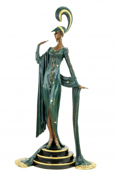 Art Deco Revue Dancer - Signed F. Preiss - Bronze Statue