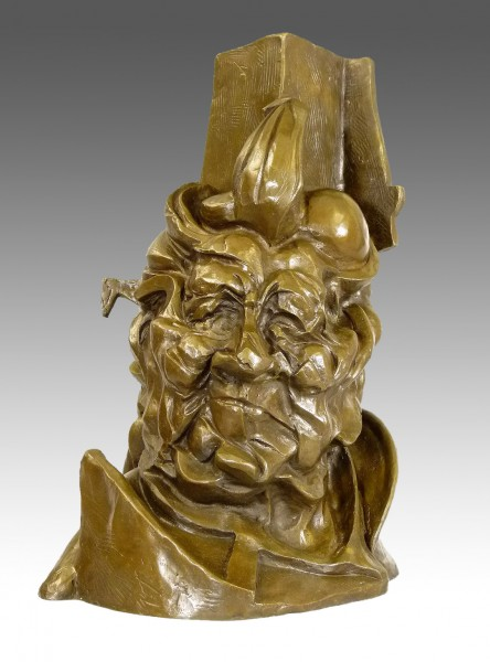 Uncommon Umberto Boccioni Bronze bust - Antigraceful, 1913