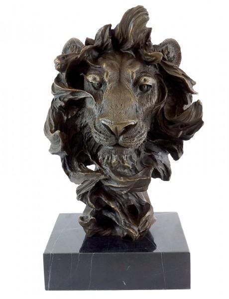 Animal Bronze - Abstract Lion's Head - Contemporary Art Milo