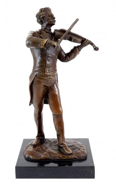 Bronze Figure - Composer Johann Strauss - Signed Milo