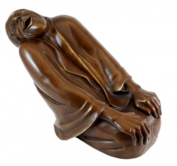 Bronze Figure - Laughing Old Woman (1937) - Sign. Ernst Barlach