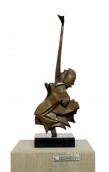 Modern Cubism Sculpture - Guitar, signed A. Stevens