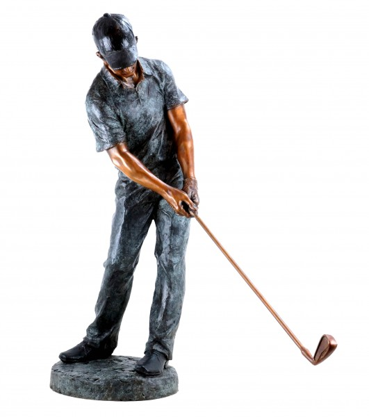 Tall Bronze Sculpture Golfer - Limited - XXL Golf Player Statue