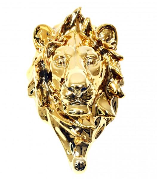 Golden Lion's Head Towel Holder - Limited Wall Hook - Martin Klein
