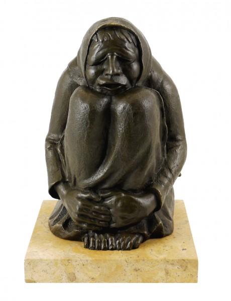 Modern Bronze Figure - Freezing Crone (1937) - Ernst Barlach