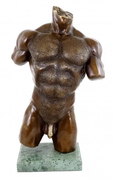 Muscular Male Torso - Bronze Erotic Nude - M.Nick