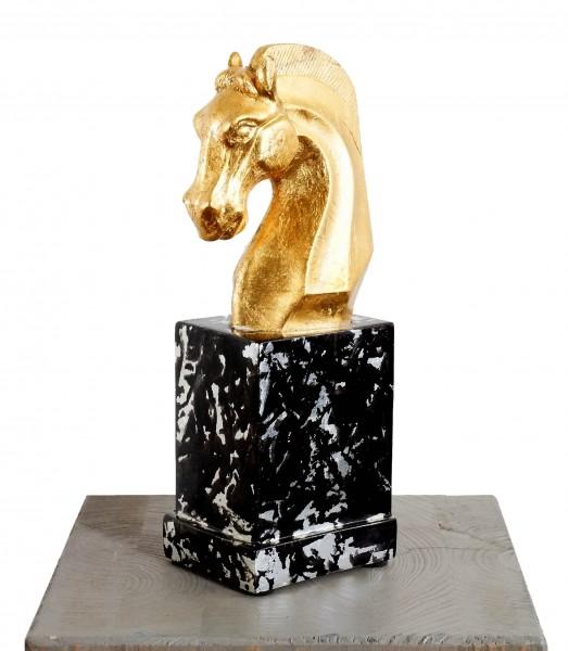 Golden Horse Head made of Fiberglass - Noble Ross - Martin Klein