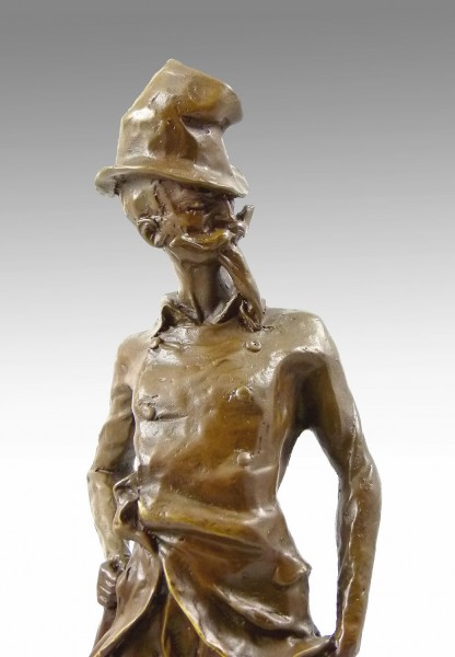 Bronze Figure - Ratapoil - from 1891 by Honoré Daumier