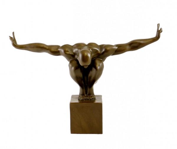 Modern Bronze Figure - The Athlete - signed Milo