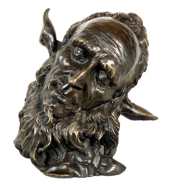 Art Nouveau Bronze Character Head - Faunus - after Jean Carries