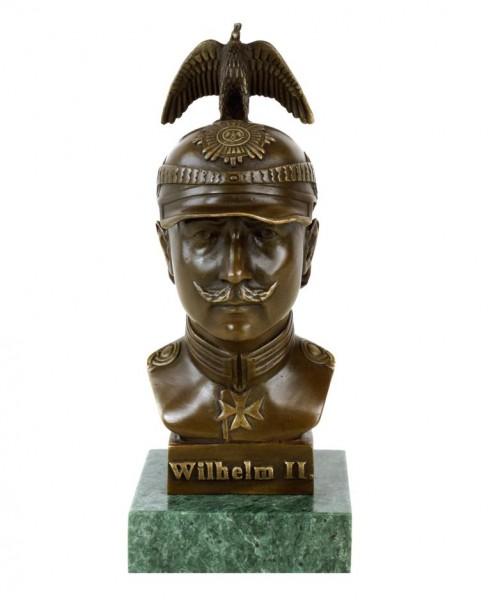 Emperor Wilhelm II Bust with Parade Helmet Prussia - Eagle Helmet