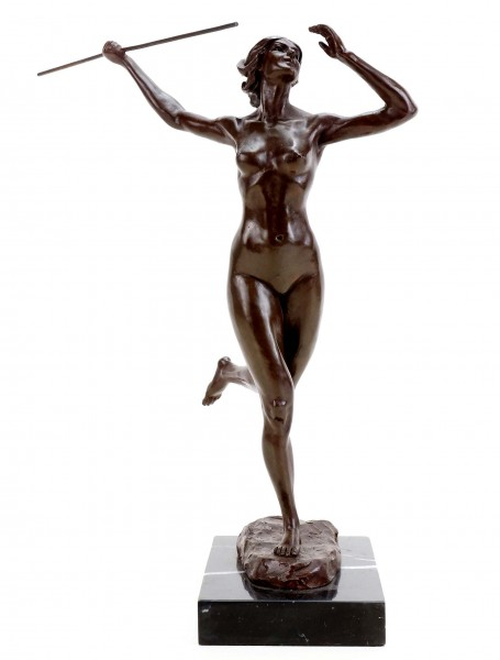Erotic Javelin Thrower - Bronze Erotic Nude - Martin Klein