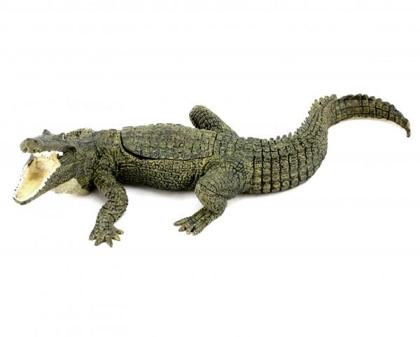 Vienna Bronze - Crocodile with Virgin - Tripartite - Bergmann Stamp