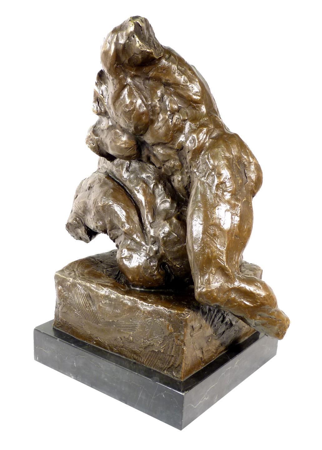Modern Art bronze sculpture balancing nude dancer from Milo