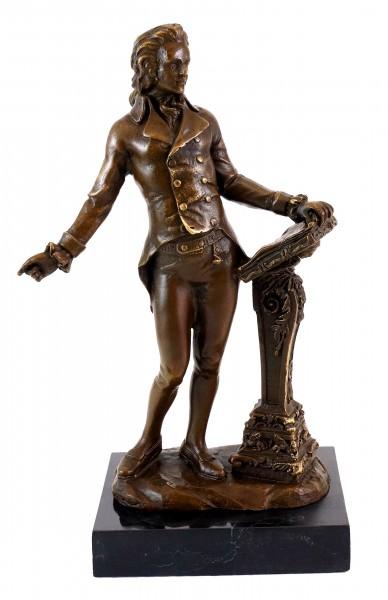 Bronze Figure - Wolfgang Amadeus Mozart - Milo signed