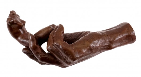 Bronze Sculpture - Auguste Rodin - The Hand of God (1917) - sign