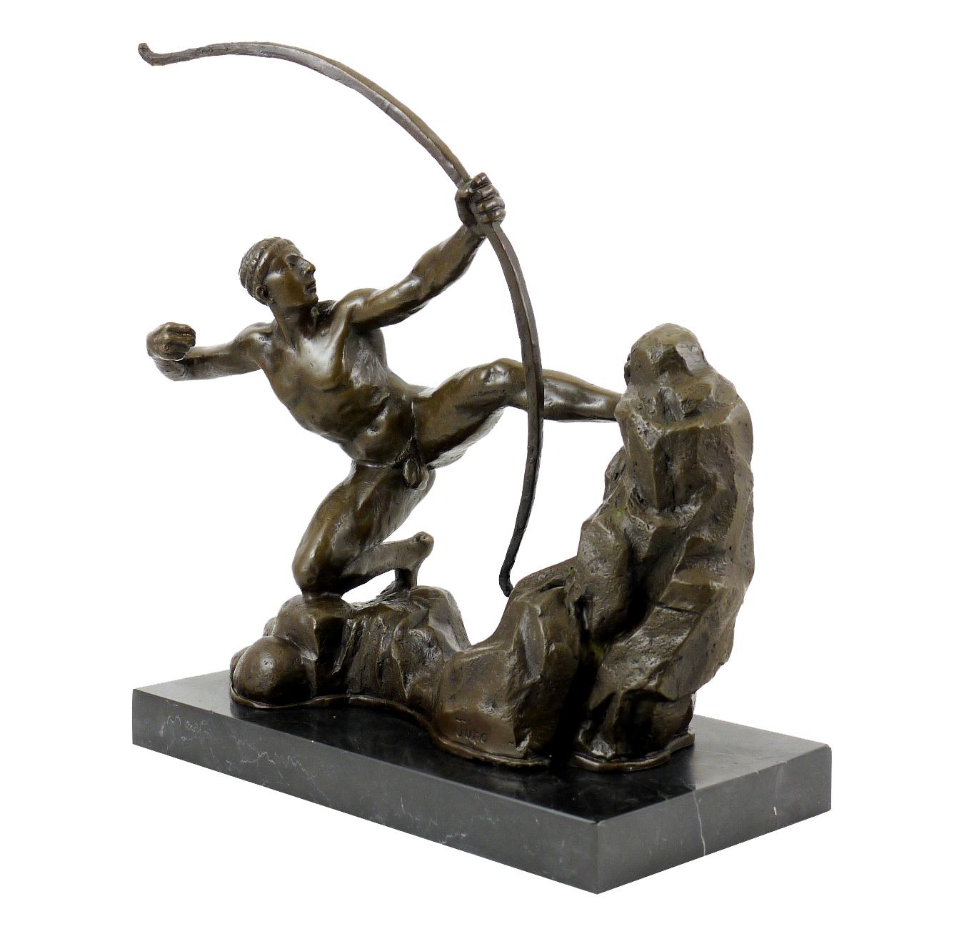 Bronze Sculpture Heracles The Archer Bourdelle Sign Juno