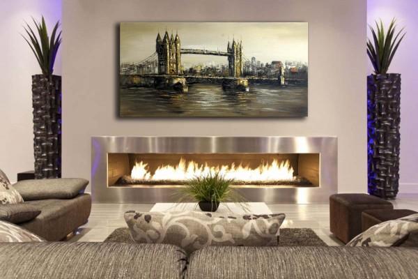 Tower Bridge in London - Acrylic Painting - sign. - Martin Klein