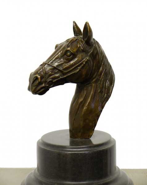 Modern Animal Figure - Head of a Horse - signed A. Stevens