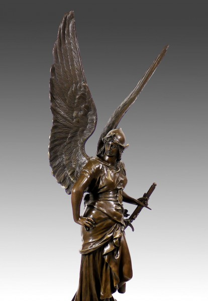 Amazing large bronze sculpture angel - Paix - from Jules Coutan