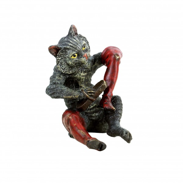 Vienne Bronze - Puss in Boots - Hand-Painted Miniature Bronze