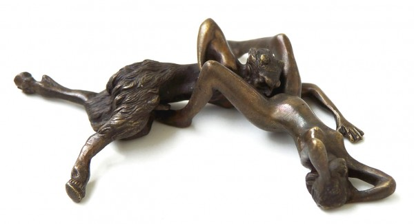 Erotic Vienna Bronze, Faun having oral sex with woman, 2 parts