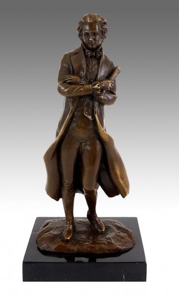 Bronze Figure - Composer - Franz Peter Schubert - Milo