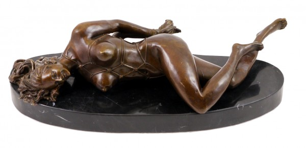Erotic Bronze Figurine - Bondage Girl Loreena