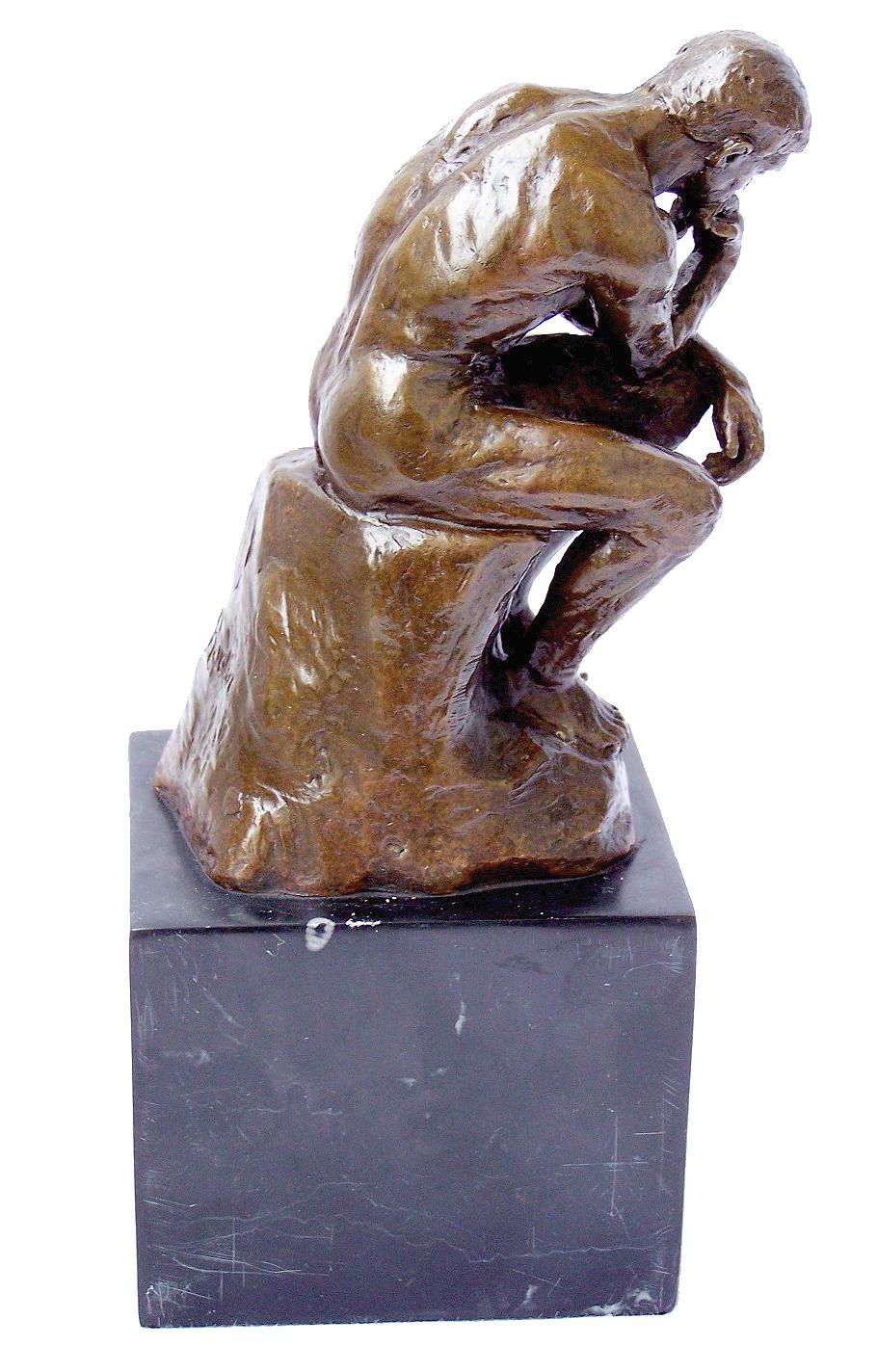 Modern Art Bronze The Thinker Signed Auguste Rodin On