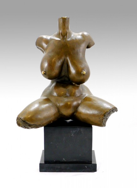 Modern Art - Abstract nude female torso, signed Gaston Lachaise