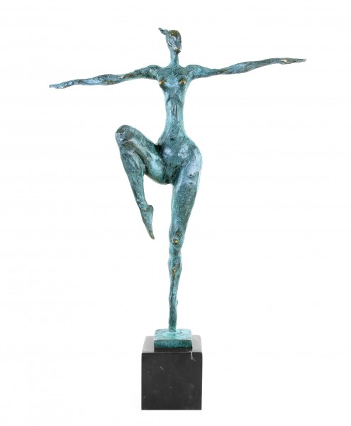 Modern Art Nude Bronze on Marbelbase Abstract  signed Milo