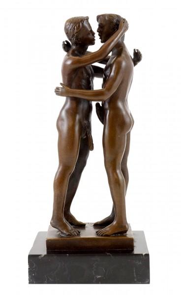 Gay Bronze - Homoerotic play between two men - sign. M. Nick