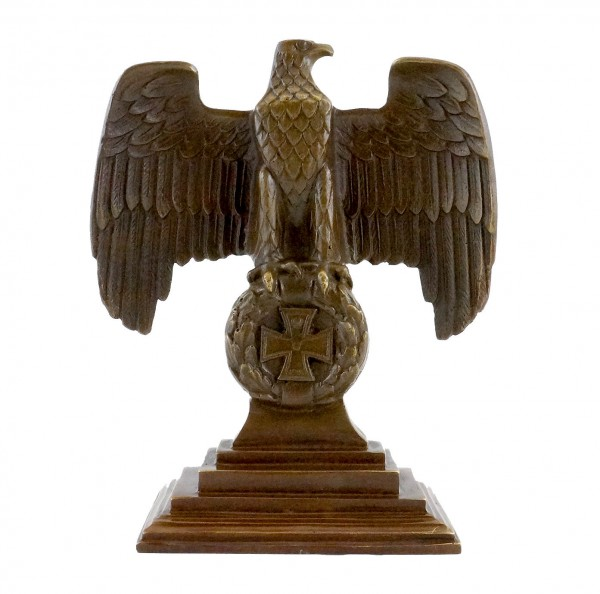 Imperial Eagle on an Iron Cross - First World War - Real Bronze