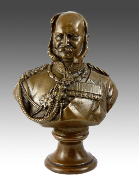 William I.- German Emperor bronze bust signed