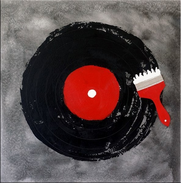 Addicted to Music / DJ-Vinyl - Acrylic Painting on Canvas