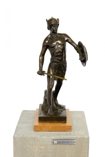 Mythology Sculpture - Warrior - signed B. Thorvaldsen