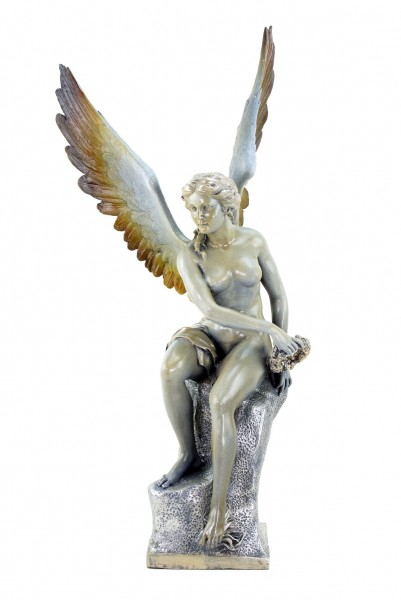 Tall Limited Bronze Angel Statue - signed Thorvaldsen - Sculpture