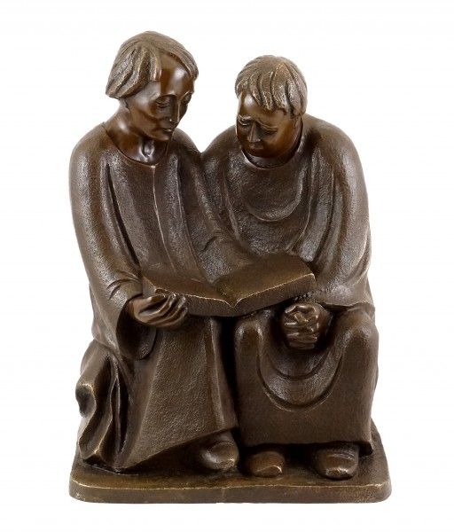 Bronze sculpture - Reading Monks (1932) - sign. Ernst Barlach