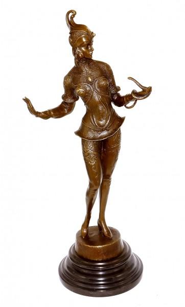 Art Deco Bronze Dancer Statue - G. Schmidt - Cassel (Snake Charmer)