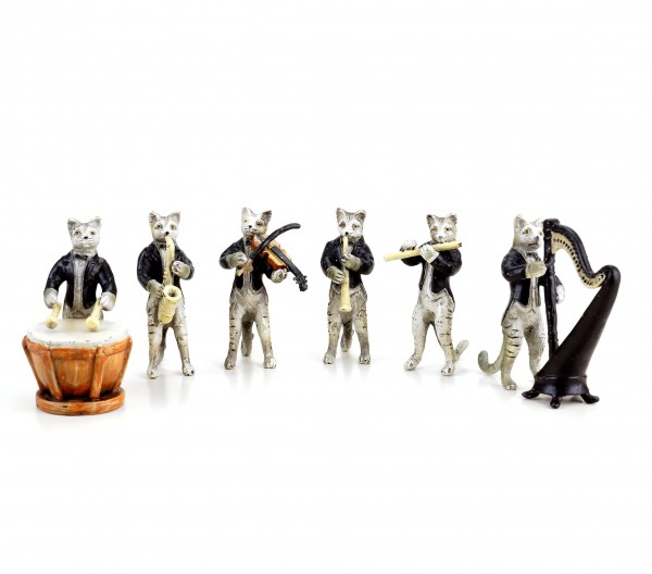 Band of Cats - Vienna Bronze - Six-Piece - Cat Figurines - Group