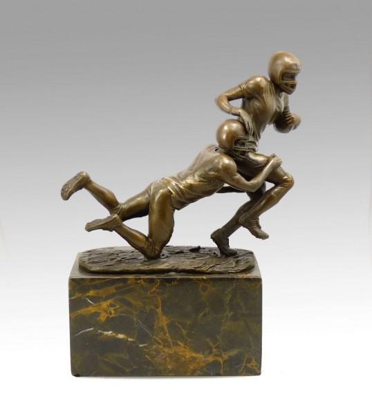 Bronze Cup - The Football Players - signed Milo