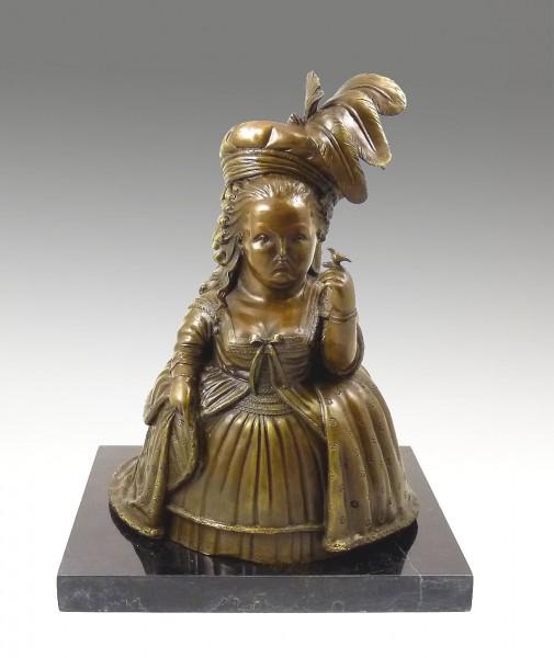 Modern Art Bronze Sculpture - Marie Antoinette - signed Botero