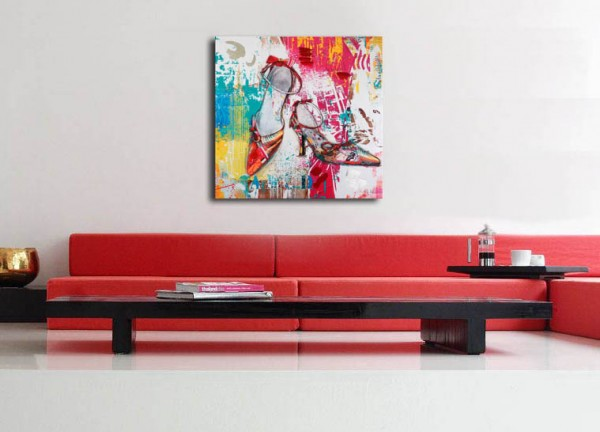 Glamour / Women Shoes - acrylic painting - Pop Art - M. Klein