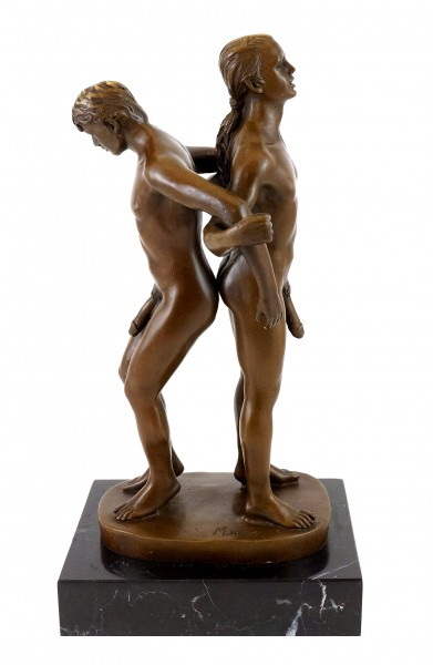 Erotic Bronze - Gay couple in acrobatic position - sign. M. Nick