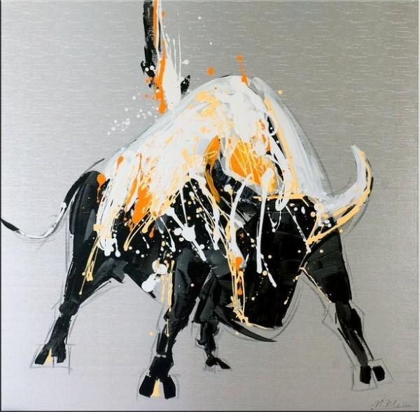 Abstract Bull / Raging Bull II - Acrylic Painting on Canvas