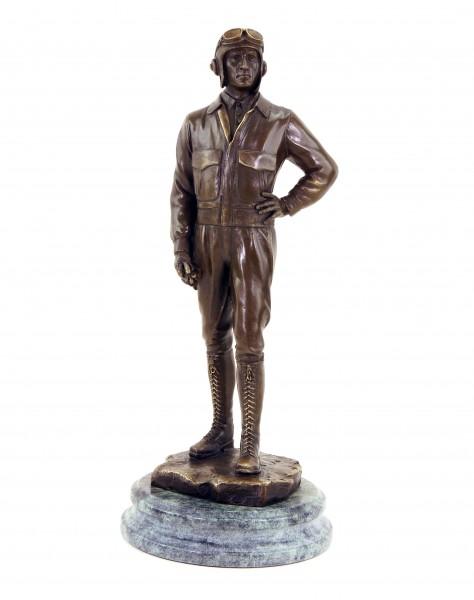 Pilot - First World War Aircraft Statue - Bronze Figurine - Militaria