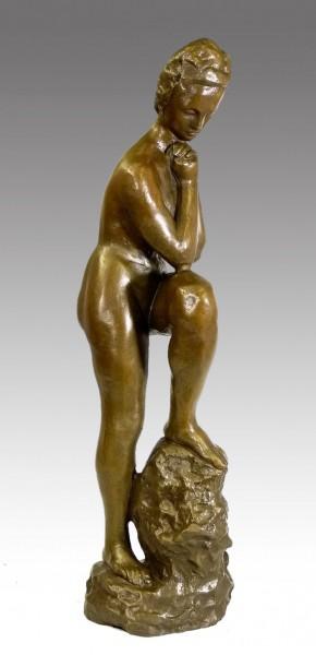 Modern Art Bronze by Wilhelm Lehmbruck - Girl with leaning leg