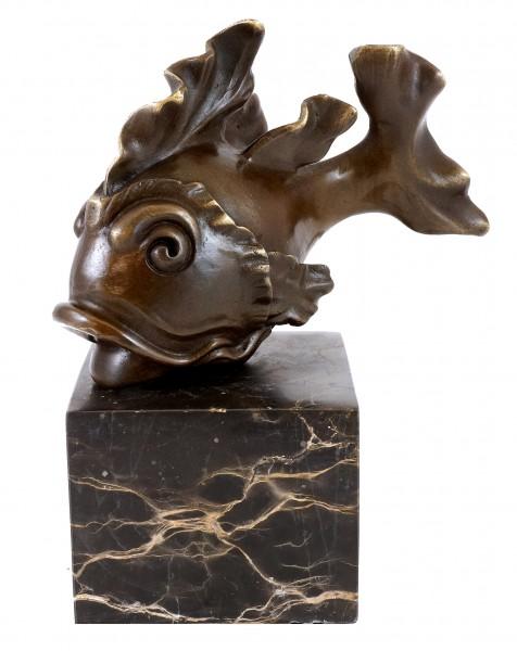 Animal Bronze Figure - Cute Goldfish - Martin Klein - signed