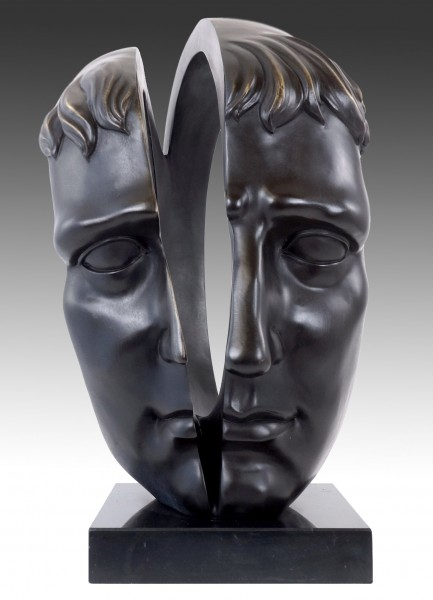 Contemporary Art Bronze Sculpture - Two Souls - signed M. Klein