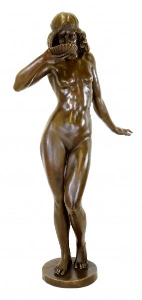 Girl Drinking from a Shell - Art Nouveau Bronze - E. McCartan